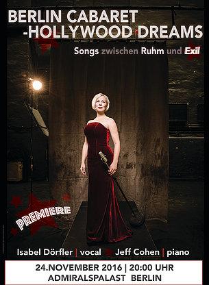 Berlin Cabaret – Hollywood Dreams – Songs zwischen Ruhm und Exil – Isabel Dörfler & JeffCohen